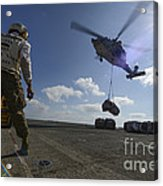An Mh-60s Sea Hawk Helicopter Lowers Acrylic Print
