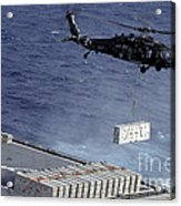 An Mh-60s Sea Hawk Helicopter Picks Acrylic Print