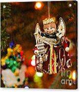 Angel Christmas Ornament Acrylic Print