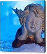 Angel In Snow  Acrylic Print