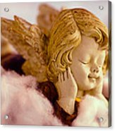 Angel Resting On Clouds And Enjoying The Sun Acrylic Print