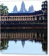 Angkor Wat Reflection Acrylic Print
