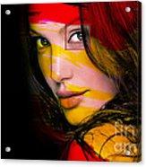 Angleina Jolie Acrylic Print