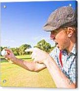 Angry Golf Acrylic Print