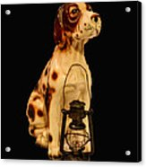 Antique Dog W Lantern Acrylic Print