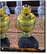 Antique Kerosene Lamps Acrylic Print