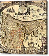 Antique Map Of Holland 1630 Acrylic Print