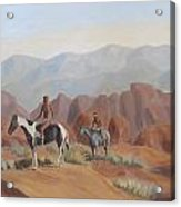 Apache Braves In The Valley Of Fire Acrylic Print