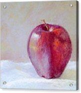 Apple Acrylic Print by Nancy Stutes
