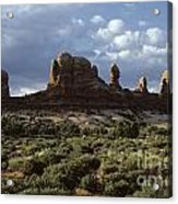 Arches National Park Sunrise Rock Formations  Acrylic Print