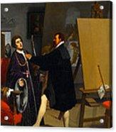 Aretino In The Studio Of Tintoretto Acrylic Print