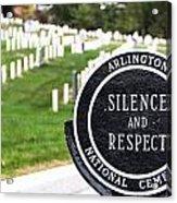 Arlington National Cemetery Part 1 Acrylic Print