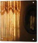 Art Homage Edward Hopper Winter Light Window Curtain Reflection Bedroom Casa Grande Arizona 2005 Acrylic Print