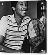 Arthur Ashe Acrylic Print by Retro Images Archive