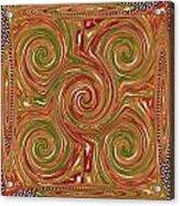 Artistic Embossed Twirl Decoration Chakra Style Unique Signature Navinjoshi Artist Created Images Te Acrylic Print
