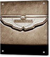 Aston Martin Emblem Acrylic Print