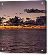 At Sea Sunset Acrylic Print