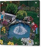 At The Pond Acrylic Print