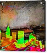Atlanta Skyline Watercolor Acrylic Print