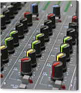 Audio Mixing Board Console Acrylic Print