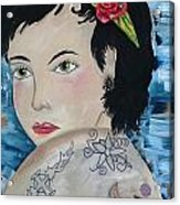 Audra Acrylic Print by Karen Carnow