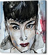 Audrey Hepburn - Abstract Art Acrylic Print
