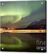 Aurora Borealis Over Nares Lake Acrylic Print