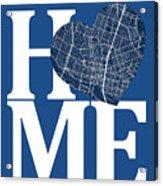 Austin Street Map Home Heart - Austin Texas Road Map In A Heart Acrylic Print