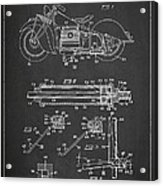 Automatic Motorcycle Stand Retractor Patent Drawing From 1940 Acrylic Print by Aged Pixel