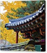 Autumn Color At Namsangol Folk Village Acrylic Print