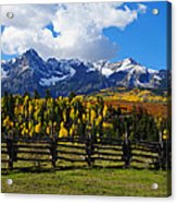 Autumn Fences Acrylic Print
