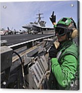 Aviation Boatswain's Mate Signals Acrylic Print by Stocktrek Images