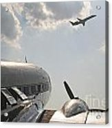 Aviation Past And Present  Acrylic Print