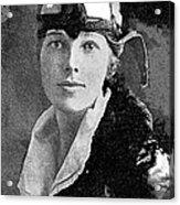Aviator Amelia Earhardt No Date-2010 Acrylic Print