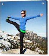 Backcountry Yoga Acrylic Print