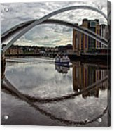 Baltic And Gateshead Millennium Bridge Acrylic Print