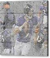 Baltimore Ravens Team Acrylic Print