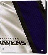 Baltimore Ravens Uniform Acrylic Print
