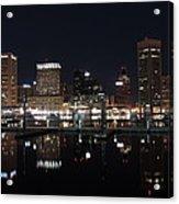 Baltimore Skyline At Night Acrylic Print