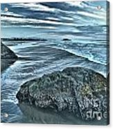 Bandon Beach Swirls Acrylic Print