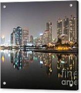 Bangkok By Night Acrylic Print
