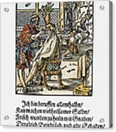 Barber-surgeon, 1568 Acrylic Print
