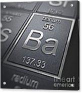 Barium Chemical Element Acrylic Print