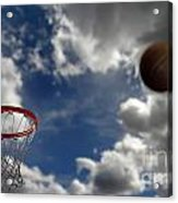 Basketball  Acrylic Print by Lane Erickson