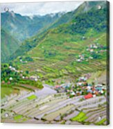 Batad Village And Unesco World Heritage Acrylic Print
