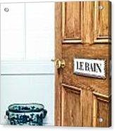 Bathroom Door Acrylic Print by Tom Gowanlock