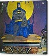 Batman On The Roof Top Acrylic Print