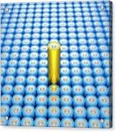 Battery Array And Single Supercapacitor. Acrylic Print