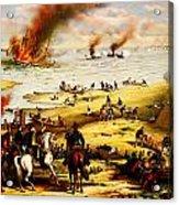 Battle Of Hampton Roads Acrylic Print