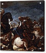 Battle Of Saint-quentin Acrylic Print
